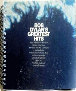 bob dylan greatest hits original spiral bound note book
