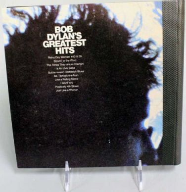 bob dylan greatest hits stereo back note book