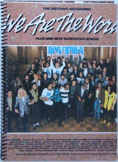 bob dylan we are tghe world note book