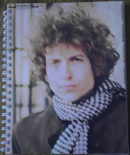 bob dylan blonde on blonde original spiral bound note book