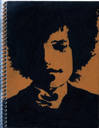 bob dylan artwork spiral bound notebook