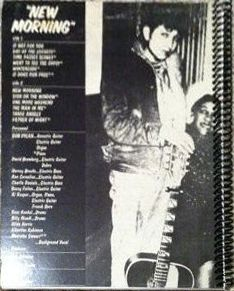 bob dylan new morning original back notebook