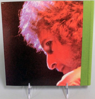 bob dylan at budokan back note book