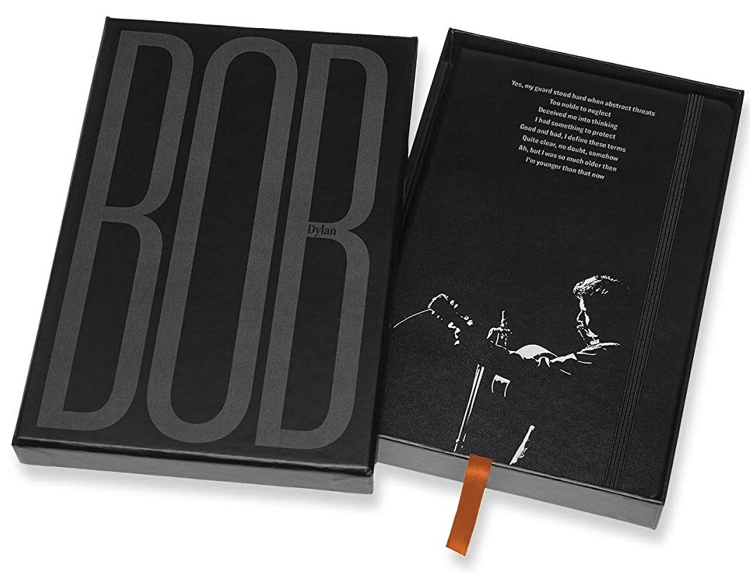 bob dylan black moleskine note book