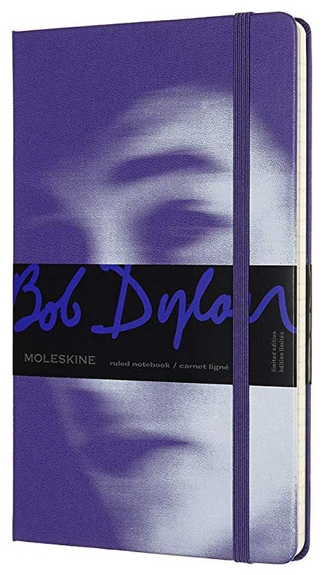 bob dylan blue moleskine notebook