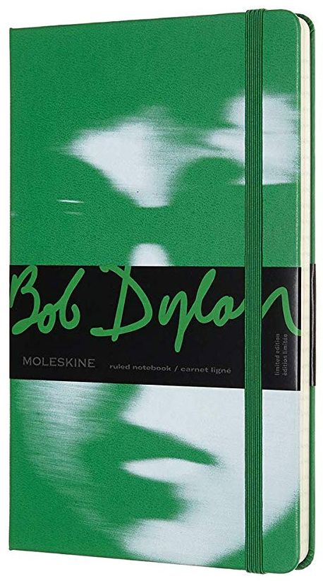 bob dylan green moleskine notebook