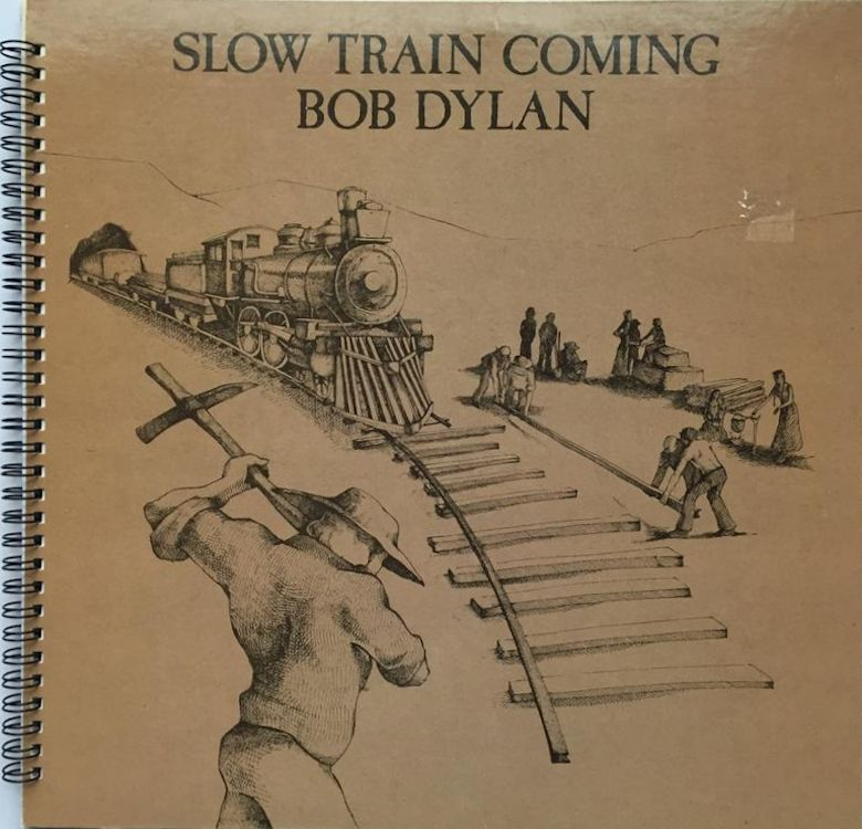 bob dylan slow train coming original spiral bound back notebook
