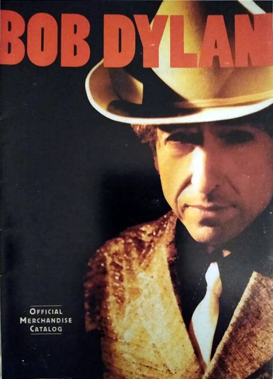 bob dylan official merchandising sales catalogue 1999