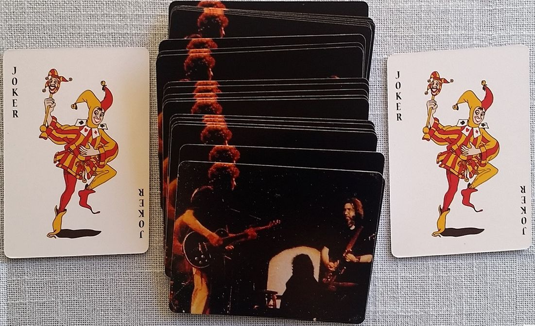 playing cards Bob Dylan image on the back of the cards #2