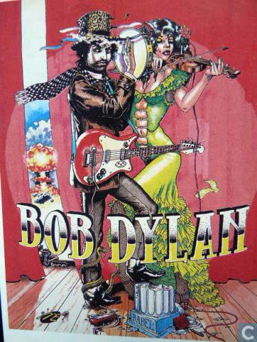 bob dylan playing card from a set of 8 Pop-cards by Peter Pollmann