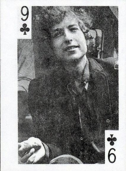 globe imports bob dylan playing card