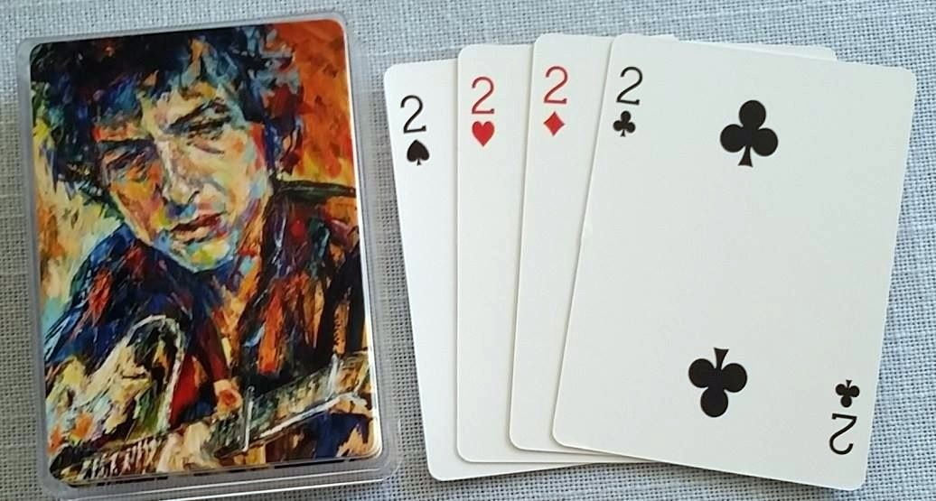 bob dylan playing cards print-on-demand