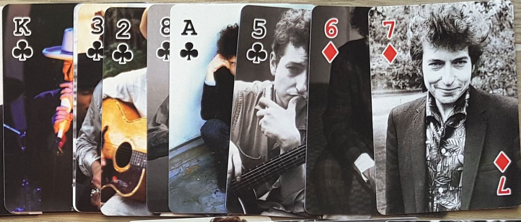 bob dylan card desk front