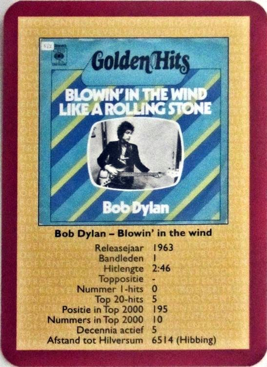 bob dylan playing cards holland