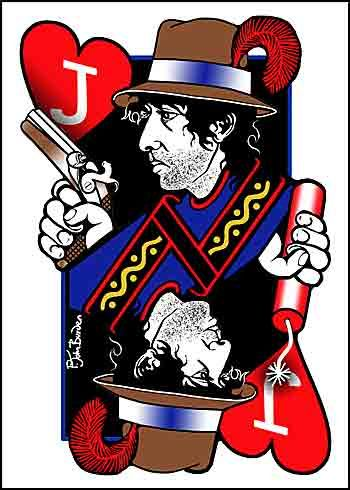 bob dylan playing cards jack of hearts