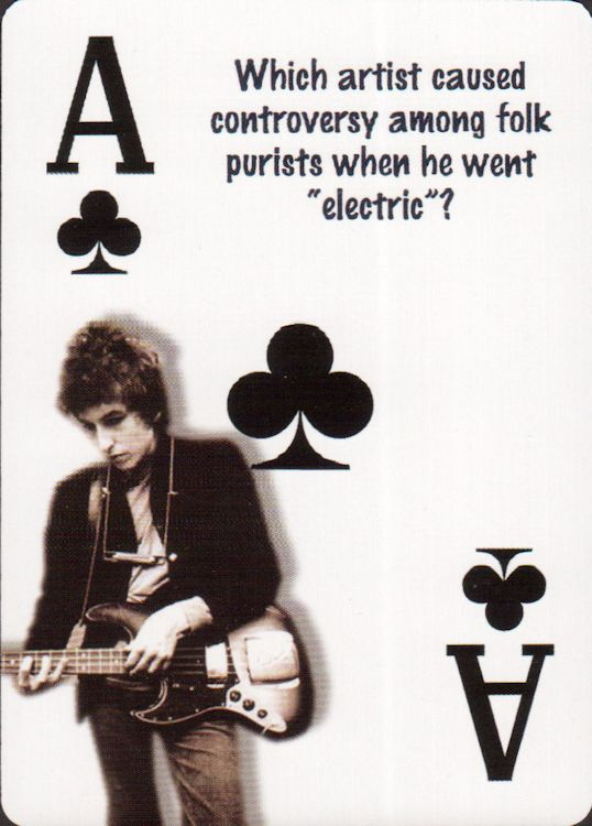 bob dylan playing cards 2005 trivia #1