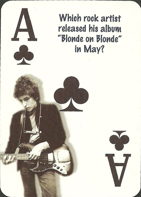bob dylan playing cards 2005 trivia #2