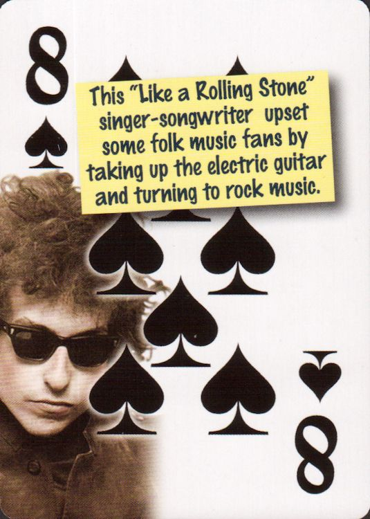 bob dylan playing cards quiz cards