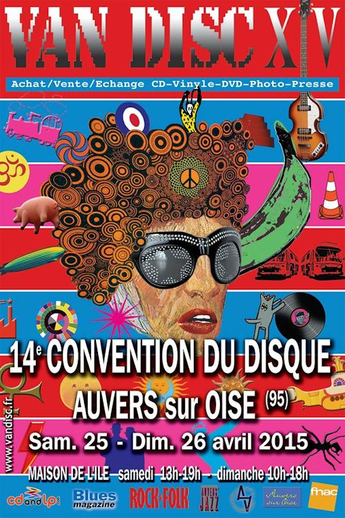 bob dylan on auvers sur oise record fair flyer