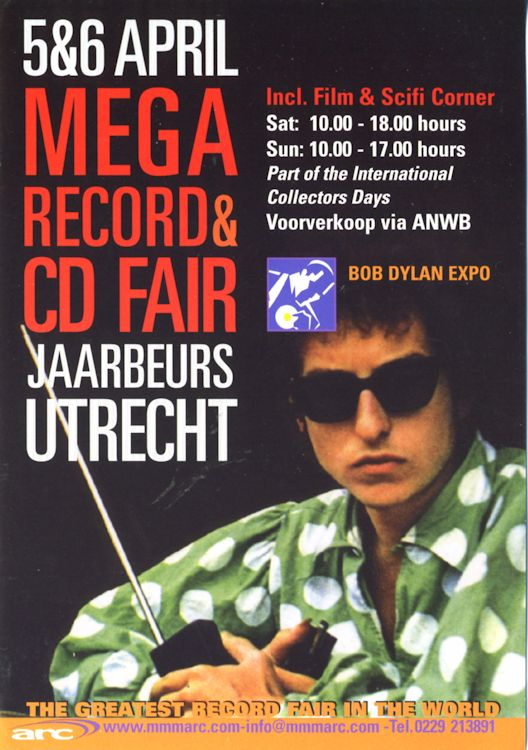 bob dylan on utrecht record fair 2014