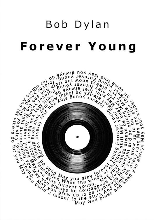 print lyric forever young round