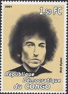 bob dylan Congo, 2001: 'Celebrities' stamp
