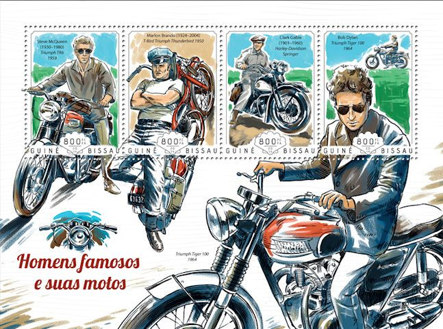 bob dylan guin�-bissau famous men and theit motos stamp