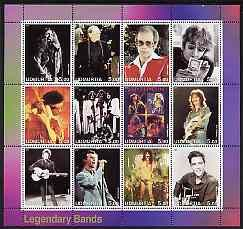 bob dylan Udmurtia Republic, 2001: 'Legendary Bands' stamp