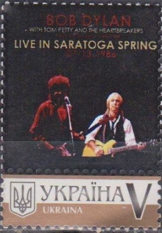 bob dylan Ukraine, personalised series 6 stamp