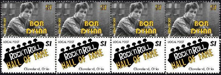bob dylan hall of fame 4 stamp