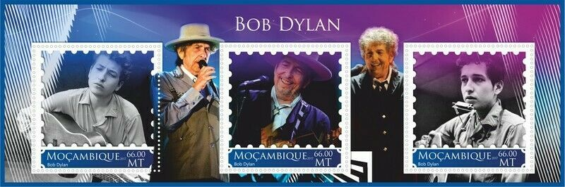 bob dylan Mozambique stamp 1