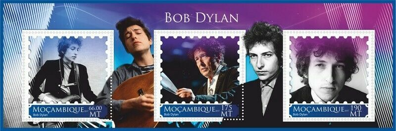 bob dylan Mozambique stamp 2