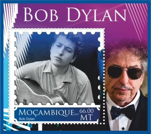 bob dylan Mozambique stamp 3