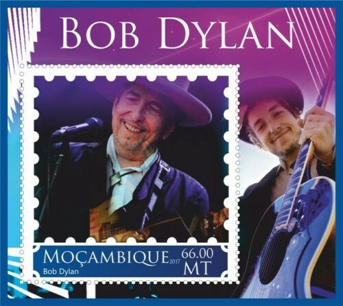 bob dylan Mozambique stamp 4