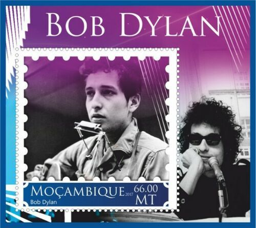 bob dylan Mozambique stamp 5