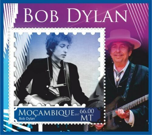 bob dylan Mozambique stamp 6