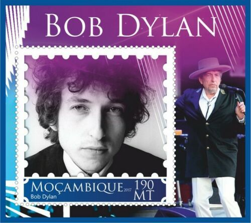 bob dylan Mozambique stamp 7