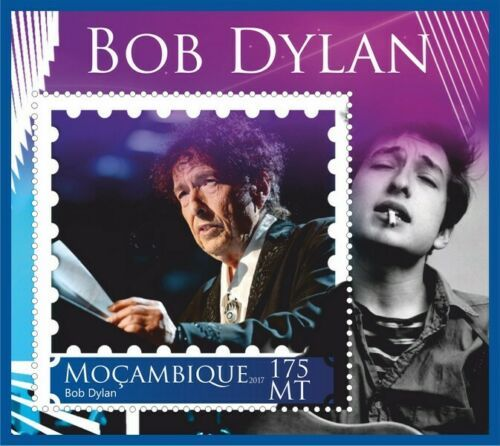 bob dylan Mozambique stamp 8