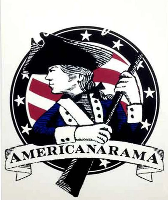2019 Promotion sticker for the Americanarama Tour