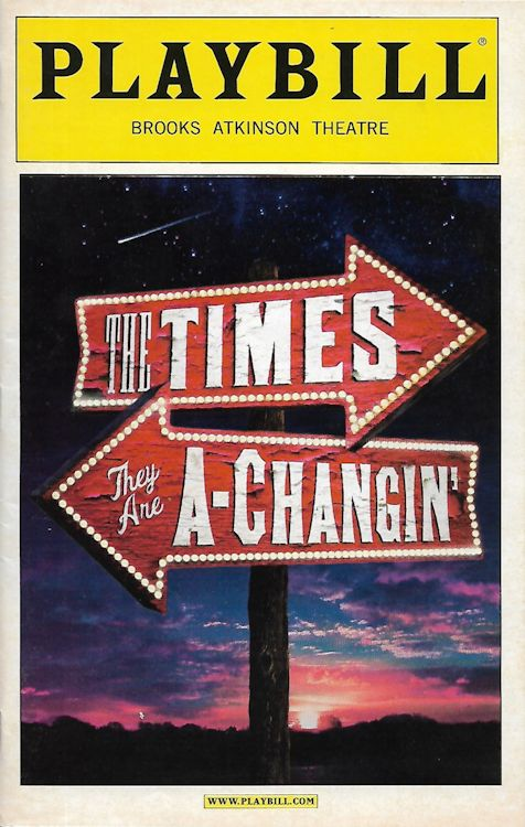 Bob Dylan theater the times they are a-changing Brooks Atkinson