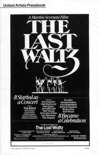 bob dylan the band the last waltz film United Artists Pressbook