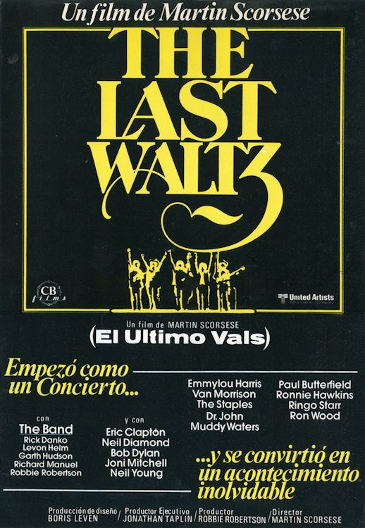 bob dylan the band the last waltz film Spain, press book