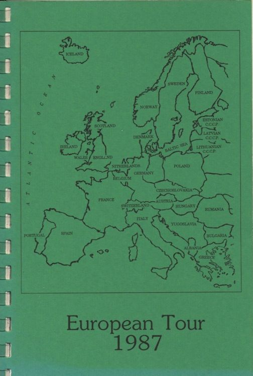 tour itineraries Europe 1987 bob dylan
