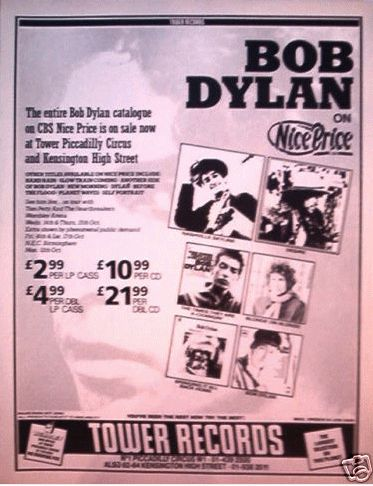 bob dylan sales catalogues