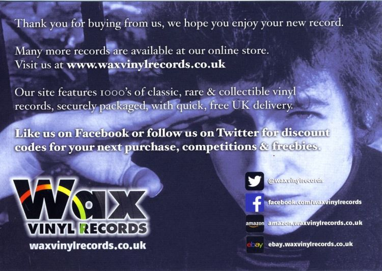 bob dylan wax vinyl records sales catalogue