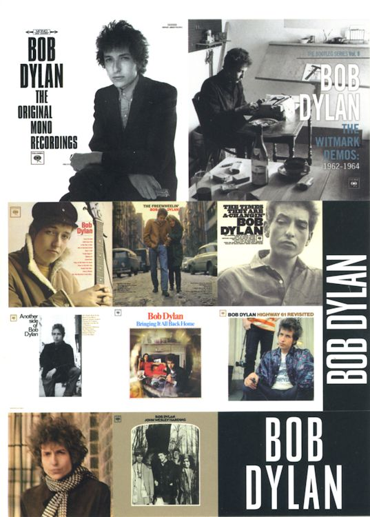 bob dylan the original mono recordings and witmark demos flyer
