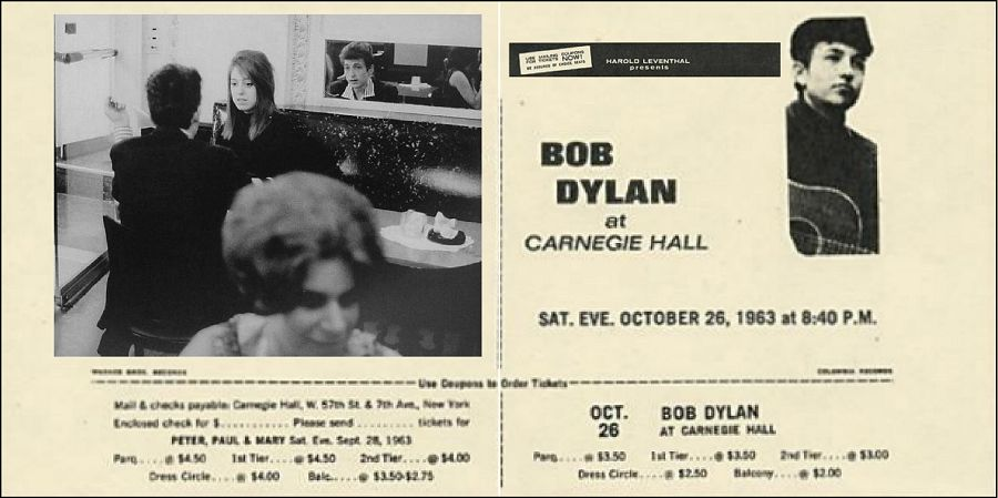 Bob Dylan 26 October 1963, Carnegie Hall flyer