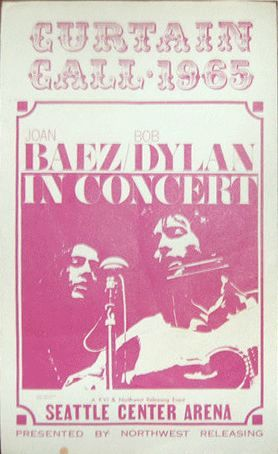 seattle 24 april 1965 Bob Dylan Programme