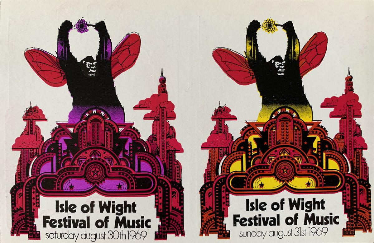 31 August 1969 Isle of wight ticket