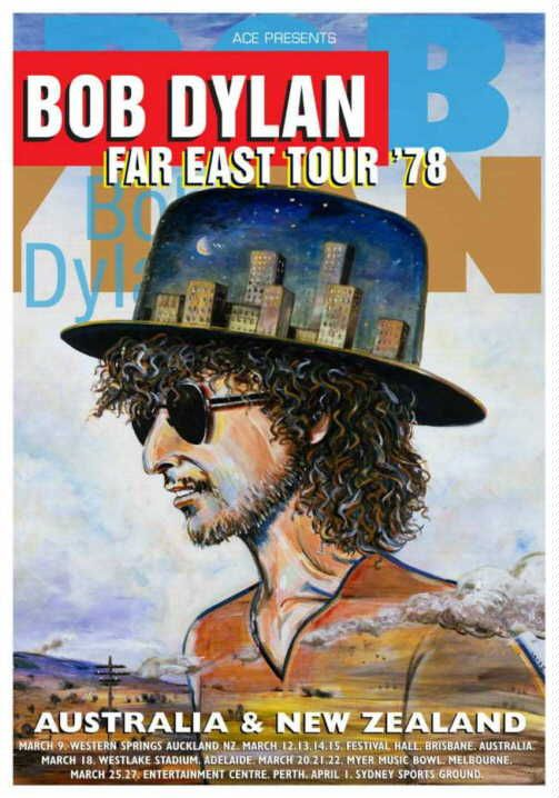 Bob Dylan 1978 world tour japan leaflet 3